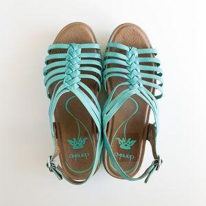 DANSKO Dana Aquamarine Sandals Size 38